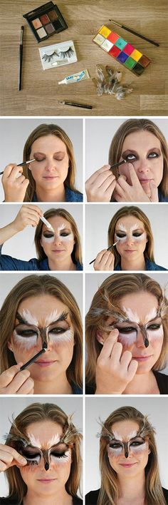 You can create a lot of cool costumes using only makeup — a comic book character, Wednesday Adams, and even a real-life Barbie doll are just some of the options! Another huge category of makeup-only costumes? Animals!