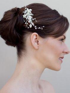 Pearl Flower Bridal Hair Comb
