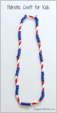 10 Fabulous 4th of July Crafts to Make: Patriotic Necklace