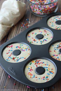 Young At Heart Mommy: Funfetti Donut Ice Cream Sandwiches