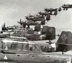 Formation of Junkers JU-87 Stukas