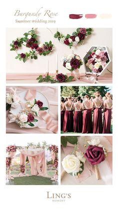 Summer Wedding - Planning a Trending Burgundy Rose. - - Summer Wedding – Planning a Trending Burgundy Rose. Wedding Table Decorations, Wedding Centerpieces, Wedding Bouquets, Wedding Themes, Wedding Flowers, Summer Wedding Colors, Spring Wedding, Dream Wedding, Diy Wedding