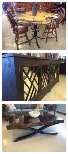 American made, solid wood furniture means unbeatable durability and style! These are just some of the beautiful pieces our team has come across while shopping for the best quality furniture in Ohio! Which one can you envision in your home? #shop_GF | Houston TX | Gallery Furniture |