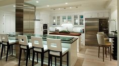 Cool modern kitchen in La Jolla, CA, by the Vallone Design Group.
