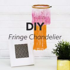 Decorate your home with a DIY fringe chandelier using this easy home decor video tutorial.