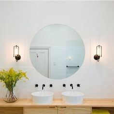 The bathroom is one of the most used rooms in your house. If your bathroom is drab, dingy, and outdated then it may be time for a remodel. Remodeling a bathroom can be an expensive propositi… Budget Bathroom, Bathroom Inspo, Bathroom Ideas, Bathroom Designs, Bathroom Remodeling, Remodeling Ideas, Timber Vanity, Black Towels, Overhead Lighting