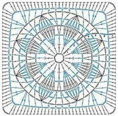 ergahandmade: 14 Granny Square Crochet Diagrams