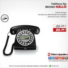 ¡Ideal para casa u oficina! Teléfono BRONDI HALLO http://www.electroactiva.com/brondi-telefono-hallo-negro.html #Elmejorprecio #Chollo #Telefono #Electronica #PymesUnidas