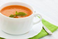 Hideg sárgabarack-krémleves friss gyümölcsből, villámgyorsan - Recept   Femina Cantaloupe, Fruit, Tableware, Food, Dressing, Recipe, Dinnerware, Tablewares, Essen