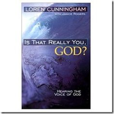 Is That Really You God? by YWAM founder Loren Cunningham.  This practical guide to hearing God's voice shows how an ordinary man who was committed to hearing God and obeying Him became the founder of the largest interdenominational missions organization in the world.