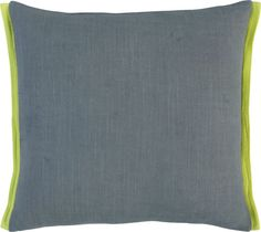 "boundary grey-chartreuse 18"" pillow in pillows 