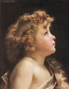 "Bouguereau William-Adolphe  (French, 1825-1905) - ""Young John the Baptist"""