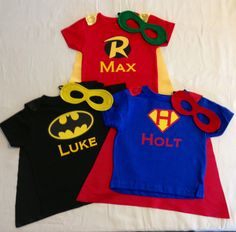 Personalized Superhero TShirt with Super Hero by JustKidnDesigns, $35.00