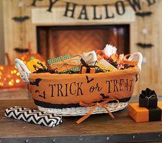 Halloween Treat Basket & Liner #pbkids