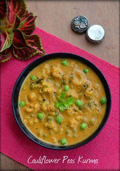 Cauliflower Peas Kurma  http://www.upala.net/2016/12/cauliflower-peas-kurma.html