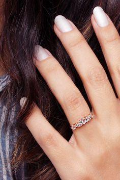 Morganite Pear & Diamond Wedding, Rose Gold Morganite Diamond Ring, Unique Diamond Wedding Ring, Pear Morganite Band Asteroid Cluster Ring #diamondweddingbands #diamondweddingrings