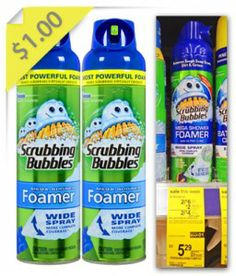 Scrubbing Bubbles Shower Cleaner only $1