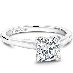 Noam Carver - Bridal Mount - B002-02A, priced from $1,051, Noam Carver Engagement Ring #diamondring #diamond #engagementring #bling #engaged  sold at Barthau Jewellers, www.barthau.com