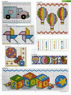 Punto de Cruz para bebes - Revistas de manualidades Gratis Cross Stitch Embroidery, Embroidery Patterns, Embroidery Techniques, Design Your Own, Projects To Try, Kids Rugs, Punto Croce, Embroidery Ideas, Embroidery Stitches
