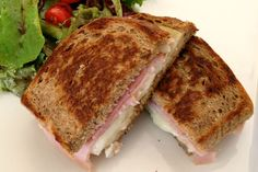 black forest ham and carmelized onion grilled cheese