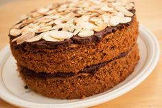 How to make a Chocolate and Almond Sponge Cake using the simple all-in-one method. A delicious sponge sandwich cake with a dark chocolate filling and topping.