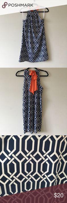 Mudpie Dress Blue Mudpie dress with orange tie. Worn only once! Soft and comfy. Mud Pie Dresses Midi