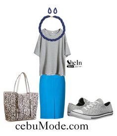"""Pencil Skirt 16"" by cebumode on Polyvore featuring Converse"