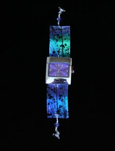 Dichroic Fused Glass Watch