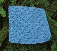 Chain Link Sampler Square- The blue patterned square is the ideal square pattern to make if you're looking to go a step up from the easy patterns and become an even better at crochet.