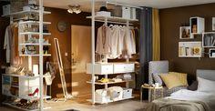 IKEA ELVARLI förvaringssystem vit