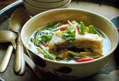 ... soba noodles in shiitake shoyu broth with spring vegetables