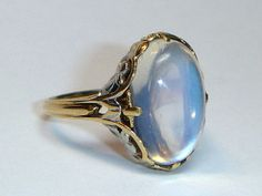 Antique Art Nouveau Moonstone Ring