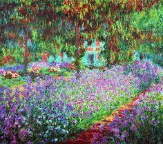 Claude Monet - Le jardin de Monet, les iris