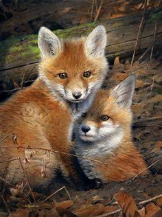 Fox Kits painting