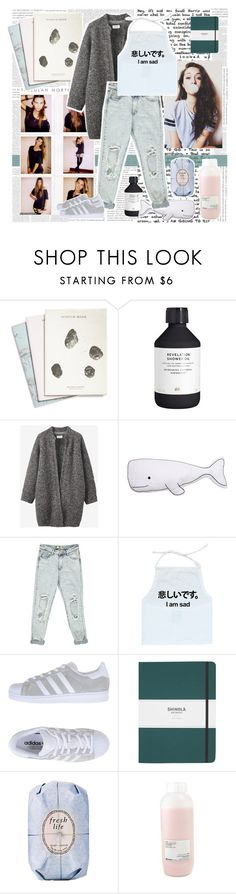 """Woke up sweating from a dream with a different kind of feeling all day long my heart was beating searching for the meaning"" by lefty97 ❤ liked on Polyvore featuring Maison Scotch, H&M, Toast, Thro, Boohoo, adidas Originals, Shinola, Fresh and Davines"
