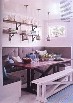 Kitchen Breakfast Nook *** Continue with the details at the image link. #affordablehomedecor