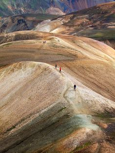 Laugavegur, the most popular hiking route in Iceland - this photo is from the route through the Landmannalaugar area