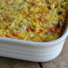 ✟♥  ✞  ♥✟   Dee Dee's South of the Border Corn Pudding Recipe | Just A Pinch Recipes   ✟  ♥✞♥  ✟