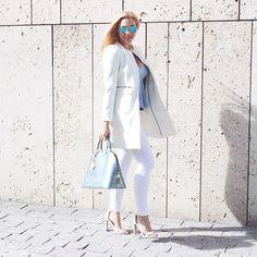 We love a good white on white ensemble.