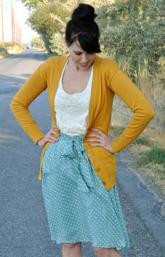 @DownEast Basics #SpringStyle Mustard, Polka Dots & Lace