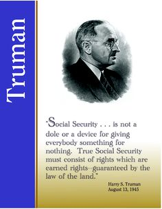 Quote From President Roosevelt On Social Security