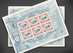 USPS Inverted Jenny Stamp Illustrated by Steven Noble on Behance
