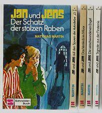 Matthias Martin: JAN UND JENS, 5 Bände, Schneider-Buch 7603, 7708, 7815, u.a.