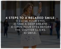 10 Easy Steps to Looking More Photogenic via @WhoWhatWearUK