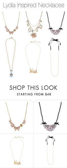 """""""Lydia Inspired Necklaces"""" by marisaborek ❤ liked on Polyvore featuring Betsey Johnson and J.Crew"""