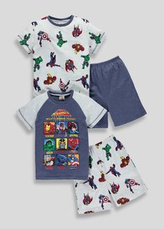 Avengers-2 Pack Pajamas-9-10 years old-Unisex Kids