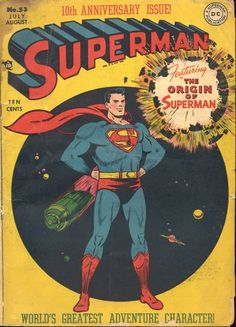 Superman 53, August 1948, cover by Wayne Boring.