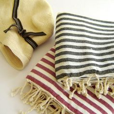 Used in the Turkish baths for centuries, 'Peshtemal' is a traditional Turkish towel, absorbs water as fast as towels, dries five times quicker and are extremely lightweight and easy to carry in your bag, luggage or storage . | schoonerchandlery.com