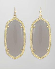 Y1D7Y Kendra Scott Elle Earrings, Slate