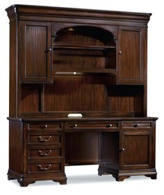 Hooker Furniture Sheridan Computer Credenza Hutch (C) 5038-10467